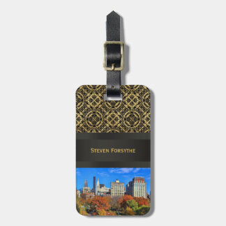 A view from Above: Autumn in Union Square Park NYC Bag Tag