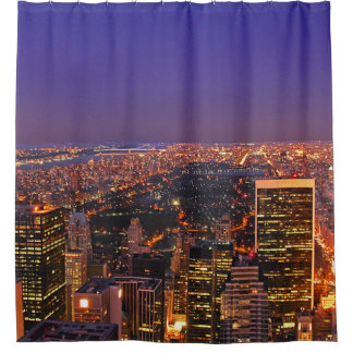 A View From Above: Central Park After Sunset Shower Curtain