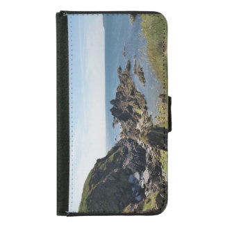 a view from burgh island wallet phone case for samsung galaxy s5