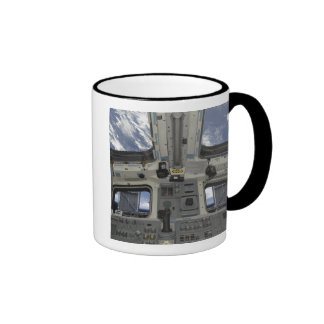 A view from inside the flight deck ringer mug