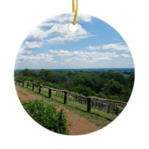 A View From Monticello Ceramic Ornament