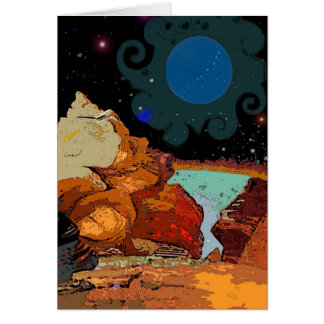 A view from Planet  Avior 7 Card