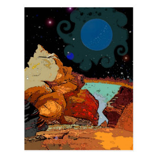 A view from Planet  Avior 7 Postcard