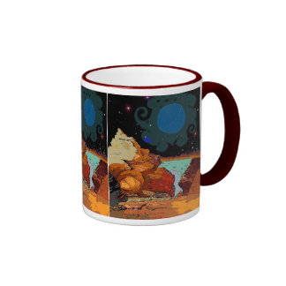 A view from Planet  Avior 7 Ringer Mug