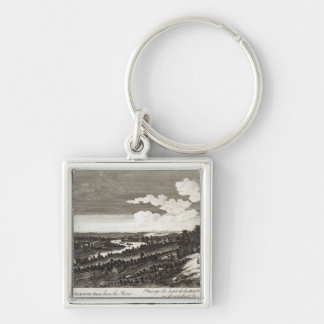 A View from Richmond Hill down the River Keychain