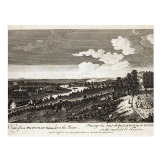 A View from Richmond Hill down the River Postcard