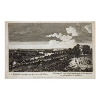 A View from Richmond Hill down the River Poster