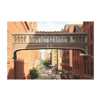 A view from the High Line: National Biscuit Bridge Canvas Prints