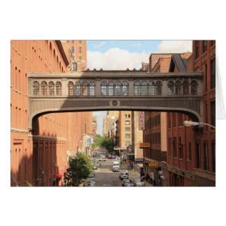 A view from the High Line: National Biscuit Bridge Greeting Card