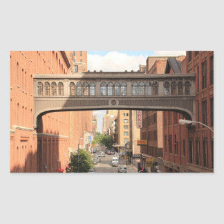 A view from the High Line: National Biscuit Bridge Rectangular Sticker