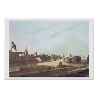 A View from the King's Barracks, Fort St. George, Poster