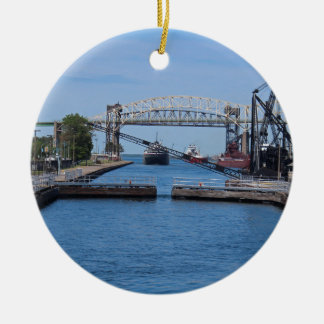 A View from the Soo II Ceramic Ornament