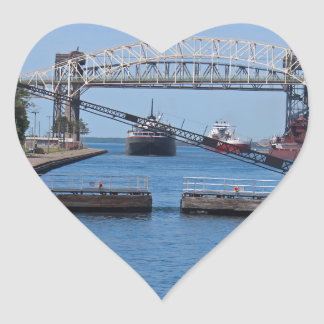A View from the Soo II Heart Sticker