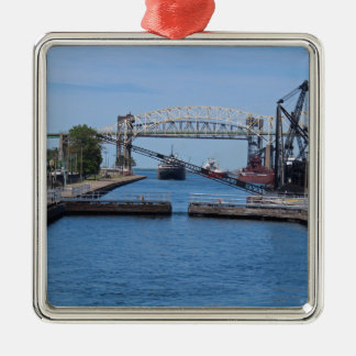A View from the Soo II Metal Ornament
