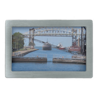 A View from the Soo II Rectangular Belt Buckle