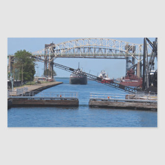 A View from the Soo II Rectangular Sticker