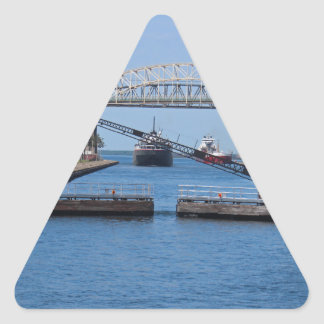 A View from the Soo II Triangle Sticker