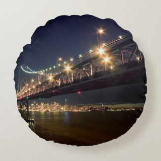 A View From Treasure Island Round Pillow