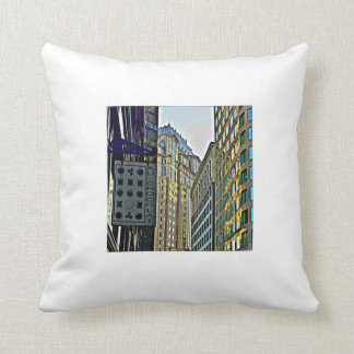 A View in Boston Throw Pillow