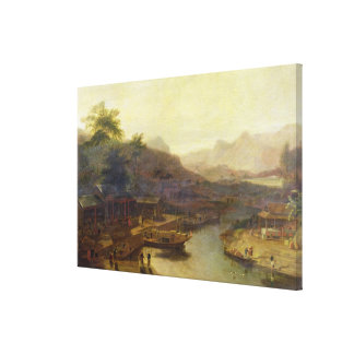 A View in China: Cultivating the Tea Plant, c.1810 Canvas Print