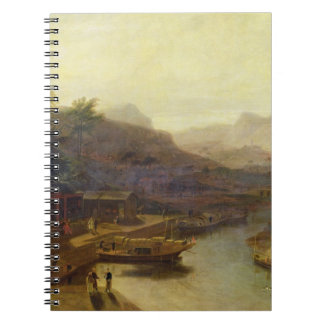 A View in China: Cultivating the Tea Plant, c.1810 Spiral Notebook