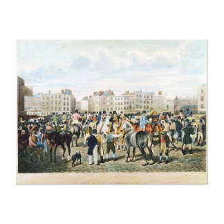 A View in Smithfield engraved by F.C. & C. Lewis Canvas Print