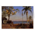 A view in the Bahamas - Albert Bierstadt Greeting Card