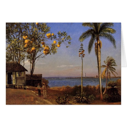 A view in the Bahamas - Albert Bierstadt Card