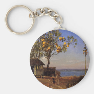 A view in the Bahamas - Albert Bierstadt Keychain