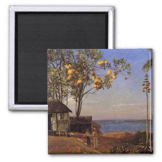 A view in the Bahamas - Albert Bierstadt Magnet