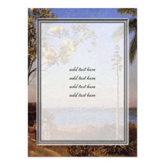 A View in the Bahamas by Bierstadt Albert 5.5x7.5 Paper Invitation Card