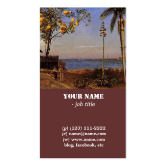 A View in the Bahamas by Bierstadt Albert. Business Card
