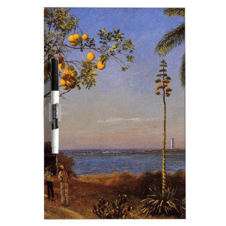 A View in the Bahamas by Bierstadt Albert. Dry-Erase Whiteboard
