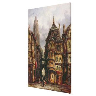 A View in the Jewish Quarter, Frankfurt, 1877 (oil Canvas Print
