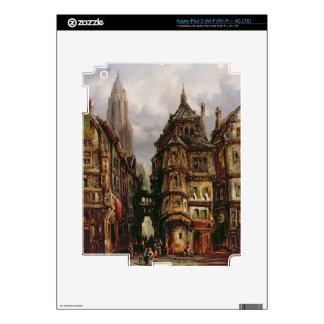 A View in the Jewish Quarter, Frankfurt, 1877 (oil iPad 3 Decal