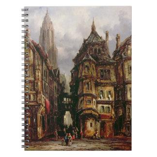 A View in the Jewish Quarter, Frankfurt, 1877 (oil Notebook