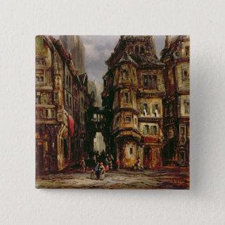 A View in the Jewish Quarter, Frankfurt, 1877 (oil Pinback Button