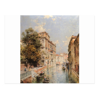 A View in Venice, Rio S. Marina by Franz Richard Postcard