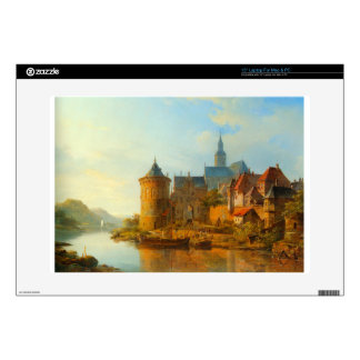 "A View of a Town along the Rhine by Cornelis Sprin Decals For 15"" Laptops"