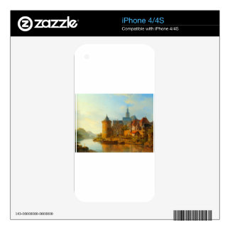 A View of a Town along the Rhine by Cornelis Sprin Decals For The iPhone 4
