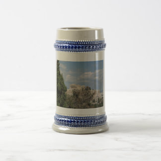 A view of Acropolis from Filopappou Hill 18 Oz Beer Stein