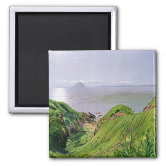 A View of Ailsa Craig and the Isle of Arran, 1860 2 Inch Square Magnet