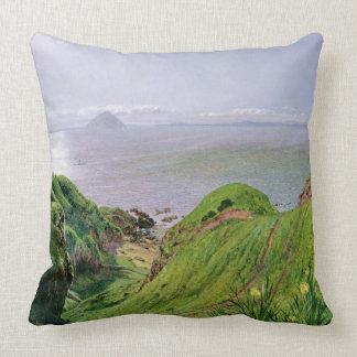 A View of Ailsa Craig and the Isle of Arran, 1860 Throw Pillow