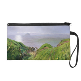 A View of Ailsa Craig and the Isle of Arran, 1860 Wristlet Purse