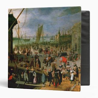 A View of Antwerp harbour Binder