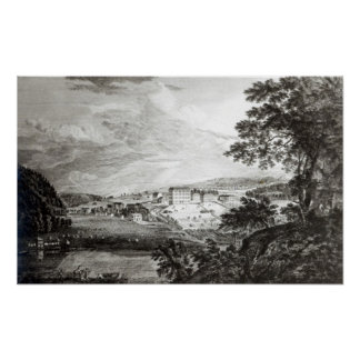 A View of Bethlem the Great Moravian Poster