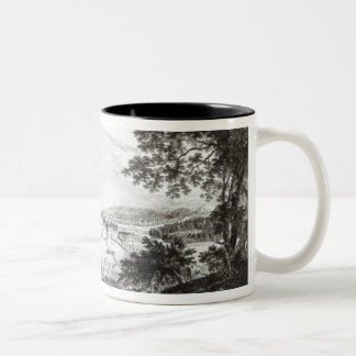 A View of Bethlem the Great Moravian Two-Tone Coffee Mug