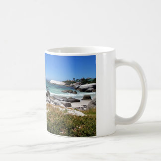 A view of Boulders beach and its famous penguins Coffee Mug