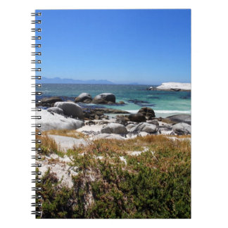 A view of Boulders beach and its famous penguins Notebook