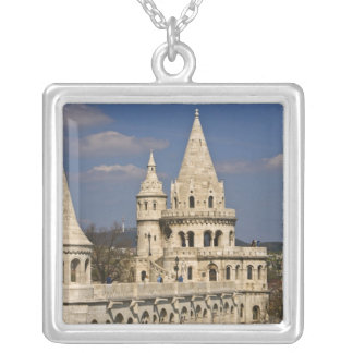 A view of Budapest from Castle Hill. Square Pendant Necklace